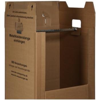 2 neue kleiderboxen 600 x 510 x 1350 mm qualit t bc doppelwellig inkl kleiderstange. Black Bedroom Furniture Sets. Home Design Ideas
