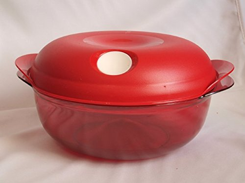 TUPPERWARE rund Mikrowelle Box 1,5 l rot Tupperware Topf