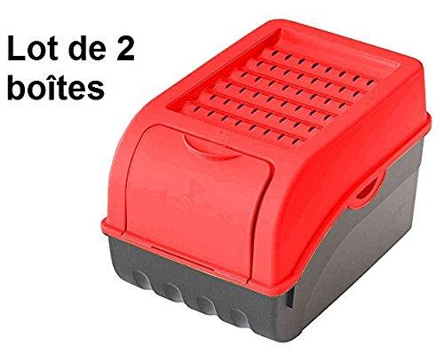 Alimentos contenedor de almacenamiento/caja para patatas, verduras, frutas, cebollas, 7,7litros, plástico (Pack de 2)