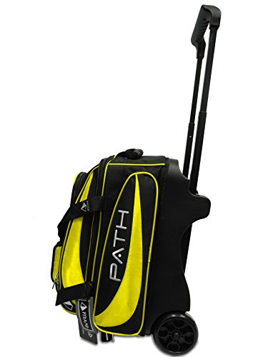 Pyramid Path Premium Deluxe Double Roller Bowling Bag, Gold