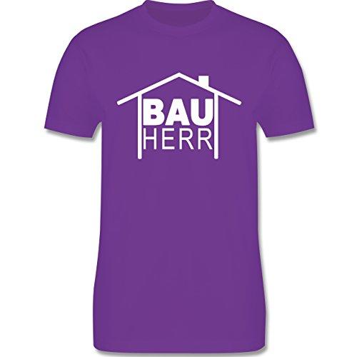 Sprüche - Bauherr Heimwerker - Herren Premium T-Shirt Lila