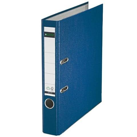 Leitz 10155035 Qualitäts-Ordner Plastik-Cover (A4, 5,2 cm Rückenbreite) blau