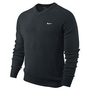 Nike Erwachsene Pullover Golf NW Lambswool V Neck, Schwarz, M, 502616