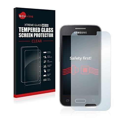 savvies Pellicola Vetro Temperato Compatibile con Samsung Galaxy Trend II Lite Protezione Protettivo Schermo Glass Durezza 9H