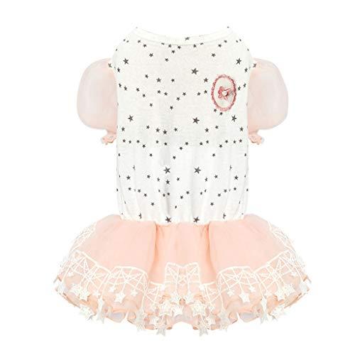 Haustier Kleid Puppy Summer Clothing Puppy dünne Kleidung Hund atmungsaktive Jacke Puppy Coat Puppy Kleidung Small Dog Clothing (Color : Pink, Size : XS) -