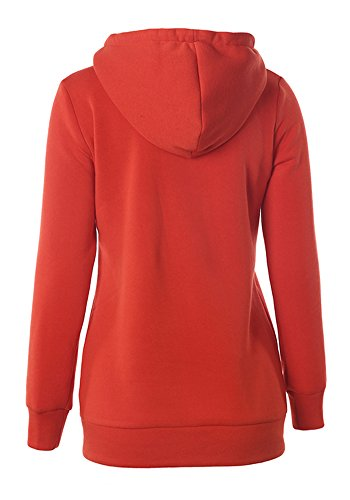 SRQA - Sweat-shirt - Décontracté - Femme Orange