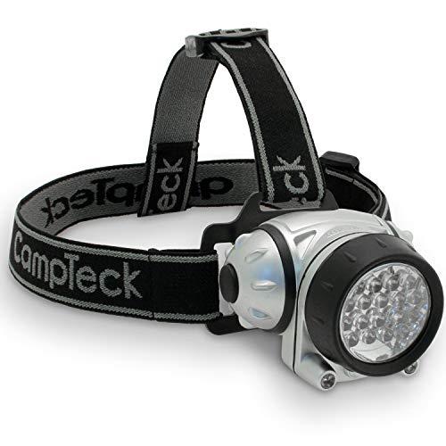 CampTeck Lunar 18 Super Helle 18 Weiße LED Stirnlampe Kopflampe Taschenlampe 2 Rot LED - 4 Lichtmodi