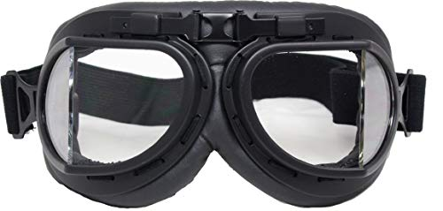 Mil-Tec Fliegerbrille Typ RAF schwarz - Abgewinkelte Glas
