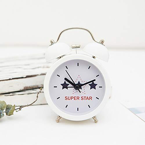 Cerdo dibujos animados campana doble reloj alarma