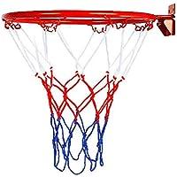 32 cm de diámetro colgado en la Pared Baloncesto Aro de aro Anillo con Tornillos de Red Juguetes Deportivos para niños de Interior al Aire Libre
