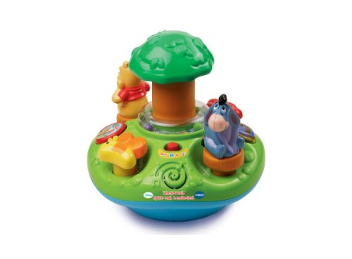 VTech 80-137504 Winnie l'ourson de Jeu et d'apprentissage toupie