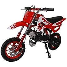 Pitbike mini 49cc Flames, con motor de 49cc de 2 tiempos automático/mini moto