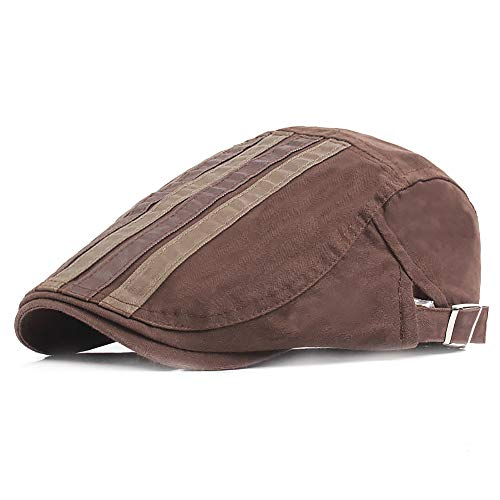 European Style Flat Cap Ivy Gatsby Newsboy Hunting Hat (Coffee) (Irish Spring-sport)