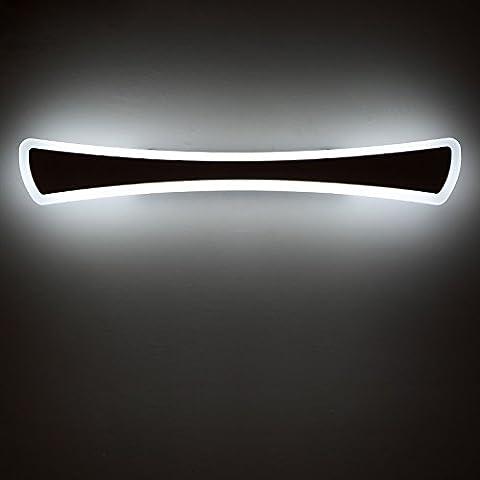 LYNDM Moderna lámpara de pared 8/12/16//20/24W maquillaje luces espejo vestidor baño+Aluminio Acero Inoxidable espejo luces led fixtures,16W L800mm,blanco cálido.(#JD-0231)