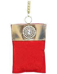 Bagaholics Ethnic Velvet Saree Clutch Mobile Pouch Waist Clip Ladies Purse Gift For Women