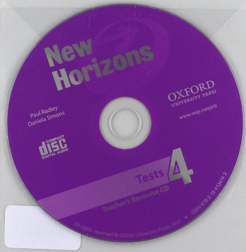New Horizons 4. Teacher's Tests CD
