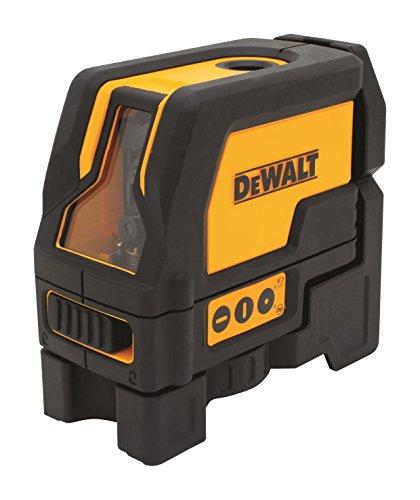 DeWalt Kreuzlinien-Laser mit 2 Lotpunkten (rote Laserdiode, selbstnivellierende, Pulsmodus, Laserklasse 2, IP 54, Lasersichtbarkeit bis 15 m ohne Detektor, inkl. 3x LR6 Batterien und Koffer) DW0822