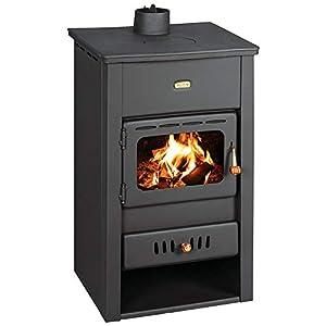 Estufa de leña de hierro fundido superior 10 kW Multi Fuiel Log Burner Prity K2CP