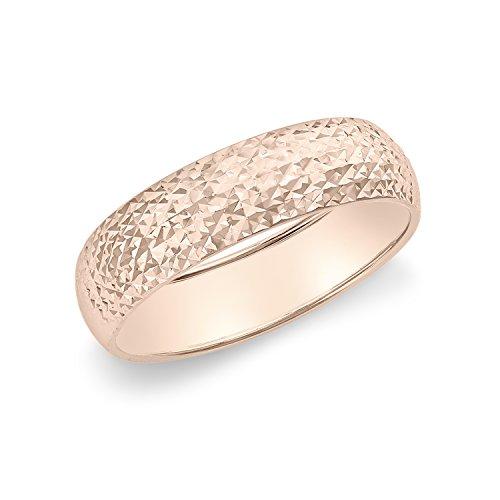 Carissima Gold Damen-Ring 9ct Rose 5mm Diamond Cut Size N 375 Weißgold Gr. 54 (17.2) - 5.48.7819 (Rose Gold Und Weißgold Ringe)