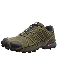 Salomon Herren Speedcross 4 Traillaufschuhe, Grün (Grape Leaf/Burnt Olive/Black), 44 EU