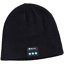 unisex Bluetooth música sombrero de lujo suave cálido sombrero auriculares inalámbricos auriculares auriculares micrófono manos libres