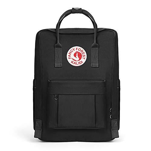 KALIDI Rucksack/Daypack Rucksack Mädchen Jungen & Kinder Damen Herren Schulrucksack mit laptopfach für 15 Zoll Notebook (Schwarz)