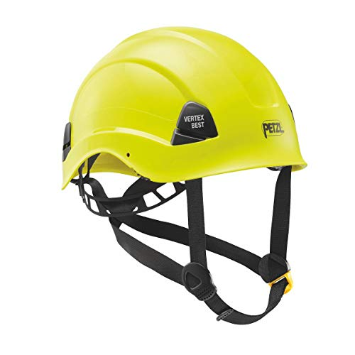Petzl A10BYA HV Vertex Best Schutzhelm für Arbeiten in großer Höhe und für Rettungseinsätze, komfortabel, belüftet, gut sichtbar, Gelb