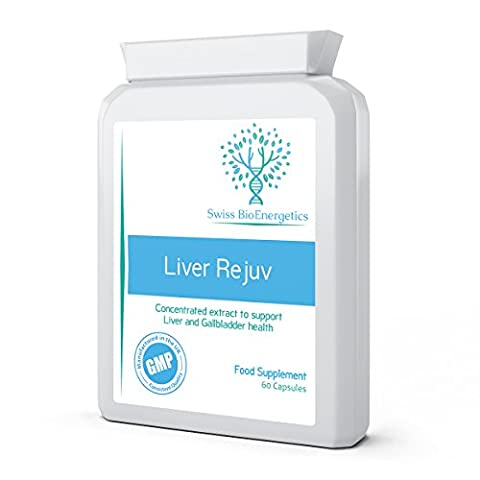Liver Rejuv 60 capsules - Professional Super Strength Duel Action Liver & Gallbladder, Detox, Cleanse, Support and Protect Herbal Combination in our Innovative Targeted Release Form