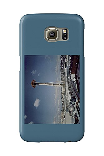 Seattle, WA - Space Needle and Monorail View (Galaxy S6 Cell Phone Case, Slim Barely There) - Monorail, Space Needle