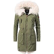 7afcf83d81c6 Marikoo Damen Baumwoll-Mantel Winterparka Winterjacke Justine 5 Farben  XS-XXL