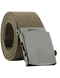 iTemer 1 Pieza Moda cinturón de Lona Salvaje Unisex cinturón de Nylon  Vestido Accesorios cinturón Casual b904a829f20b