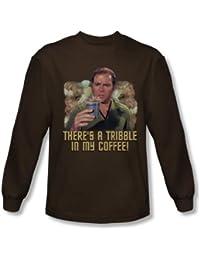 Star Trek - Mens Coffee Tribble Long Sleeve Shirt In Coffee