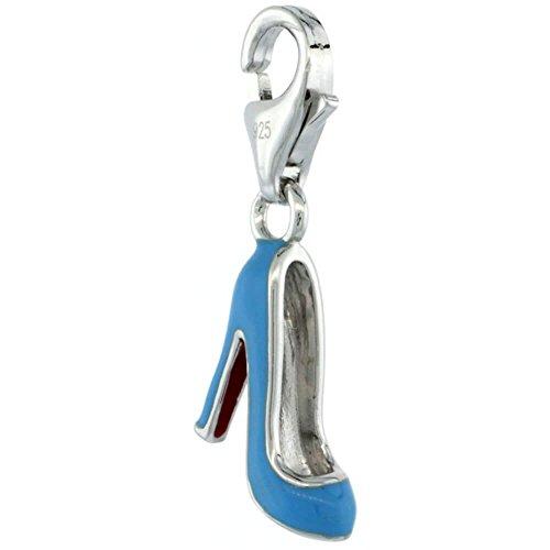 Revoni Ehering Sterlingsilber High Heel Stiletto Charm für Armband, 3/4 im. Höhe (19 mm), emailliert
