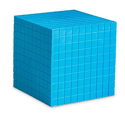 Learning Resources Grooved Plastic Base Ten Cube by Learning Resources