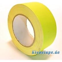 Neon Klebeband matt fluoreszierend Gelb 50mm x 25m Gaffa UV Duct Tape