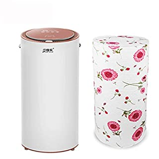 AJS Dryer Clothes Dryer Home Small Dryer Intelligent Touch Maternal And Child Clothes Dryer UV Sterilization Soft And Deodorant Clothing Care Machine A+ (Color : BROWN)