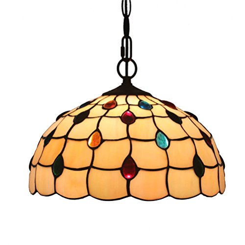FABAKIRA 12 Pollici Lampadari Vintage Stile Tiffany Antico Pastorale Di Invertito Soffitto Lampadario a Sospensione Light Fixtures Per Soggiorno Pranzo Camera Da Letto