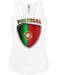 FOOTBALL WORLD CUP - EUROPEAN CHAMPIONSHIP - PORTUGAL FAN Femme Débardeur Small - X-Large - Deluxe