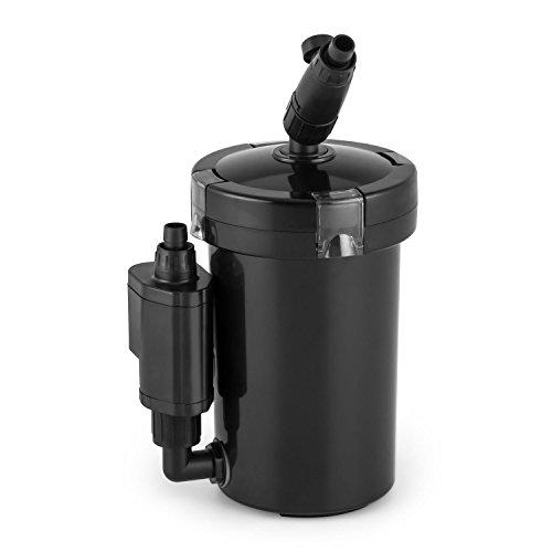Waldbeck Clearflow 6UVL • Aquarium Außenfilter • für Aquarien bis 120 Liter Kapazität • 6 Watt Pumpenmotor • 4-Stufen-Filter • Wasser-Durchstrom bis zu 120 Liter/St. • 2 x Schlauch von 1,6 m