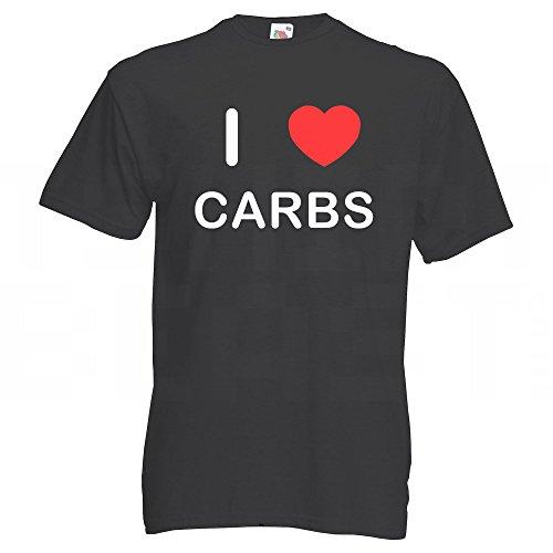 I Love Carbs - T-Shirt Schwarz