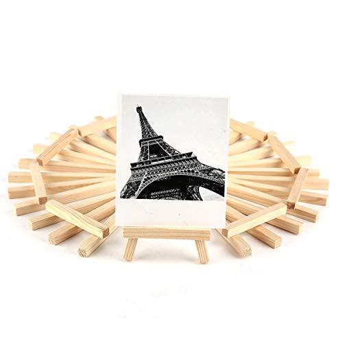 Holz-Staffelei, Größe S, für Hochzeit, als Tisch-Nummer, Namenskarte, mit Ständer, Halterung zum Ausstellen, 10 Stück