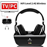 Artiste ADH300 Wireless TV Headphones,2.4GHz UHF/RF Digital Over-Ear Stereo Headphone for TV,100ft Distance