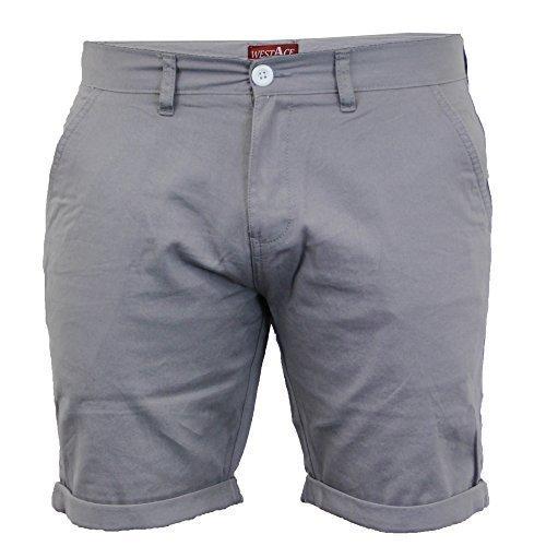 Herren Chino Shorts By Threadbare Grau