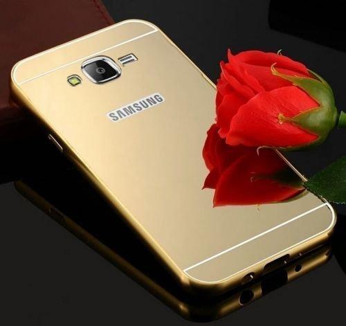 CLASSICO Luxury Aluminium Bumper Plus Mirror Acrylic Back Cover For Samsung Galaxy J7 New Model (2016)