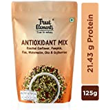 True Elements Antioxidant Seeds Mix - Roasted Sunflower, Pumpkin, Flax, Watermelon, Chia with Goji Berries, 125g