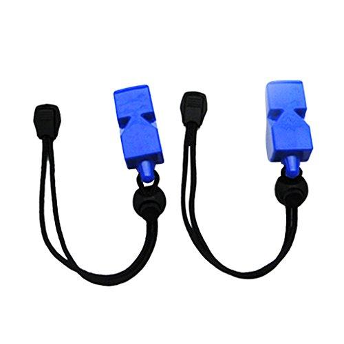 Sharplace Outdoor Notfallpfeife Wassersport Signalpfeife (2 Stück Pack) - Blau