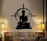 Vintage Buddha Marke Vinyl Wandaufkleber Abnehmbare Wandaufkleber Chakra Mandala Aufkleber...