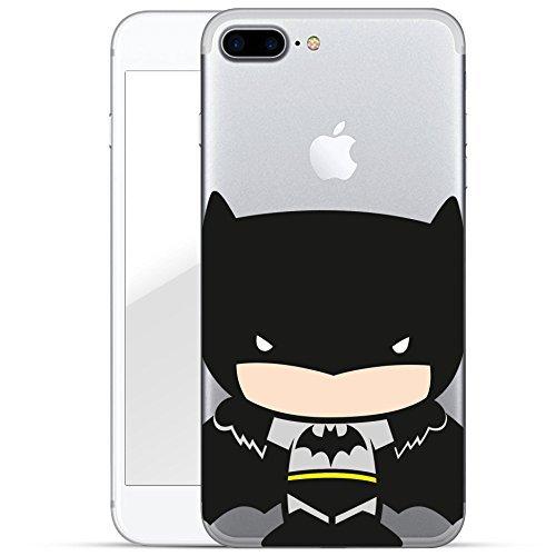 """finoo   iPhone 6 und 6S Hard Case Handy-Hülle """"Justice League"""" Motiv   dünne stoßfeste Schutz-Cover Tasche mit lizensiertem Muster   Premium Case für Dein Iphone  Superman comic 2 Batman chibi standing"""