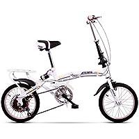 Paseo Bicicleta Plegable Bicicleta Plegable para Mujer Bicicleta de 6 velocidades con Juego de Ruedas de