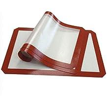 Alfombrilla de silicona para hornear - Juego de 3, (42x29.5cm) antiadherente